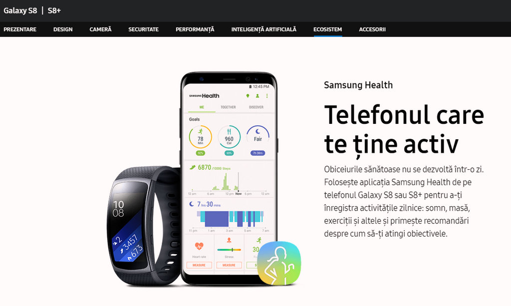 Samsung S8 programare la doctor prin telefon