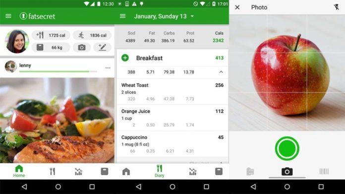 aplicatii android pentru dieta calorie counter
